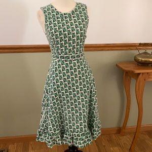 Mata Traders geometric print sleeveless dress XS